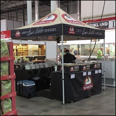In-Store Sampling Tent for Chef Aidells Sausage