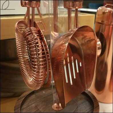 Copper Bar Accessories For New Year's Eve Feature