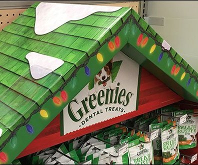 Dental Treats Dog House Display At PetSmart