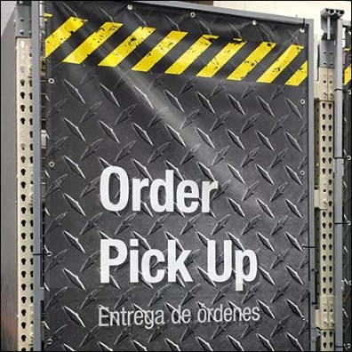 Online Order Confidential Pick Up Area Cover