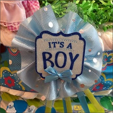 Diaper Cake Its A Boy Square