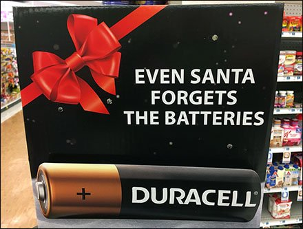 Even Santa Forgets Batteries Reminds Duracell