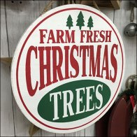 Farm Fresh Christmas Trees Sign at Michaels Feature