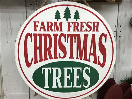Farm Fresh Christmas Trees Sign at Michaels