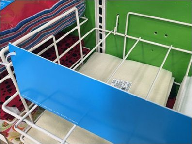 Flat-Shelf Merchandiser Rack With Pegboard Anchor