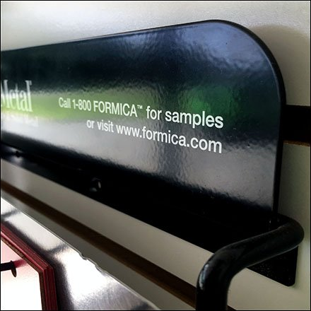 Formica Retail Fixtures - Formica DecoMetal Samples Slatwall Standoffs