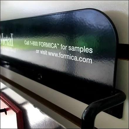 Formica Retail Fixtures - Formica DecoMetal Samples Slatwall Standoffs