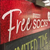 Free Fuzzy Socks Entry Chalkboard Header