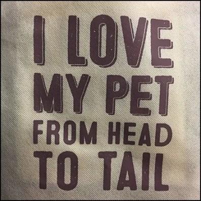 I Love My Pet Branded Shopping Bag