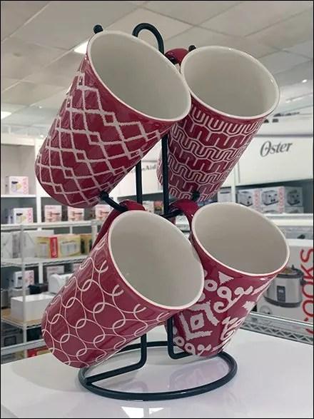 Mug Table-Stand Tops Glassware Display