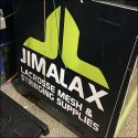 Lacrosse Mesh Stringing Supply Spools by Jimalax Logo