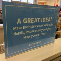Making Style Count Table-top Sign Feature