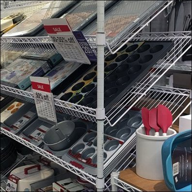 Declined Bakeware Display by Metro and JCPenney