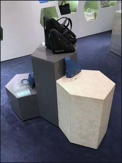 Balenciaga Purse Hexagonal Pedestal Display