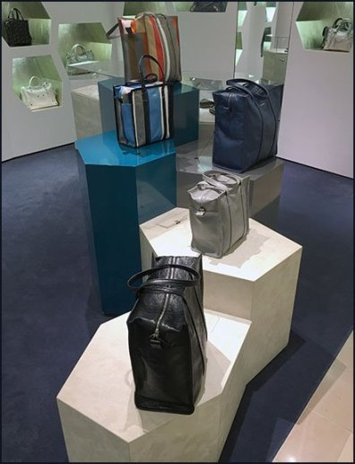 Balenciaga Purse Hexagonal Pedestal Display