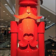 Giant Red Nutcracker Visual Merchandising