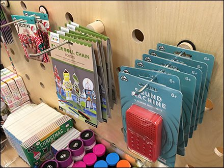 Wood Display Hook Nordstrom Carded Display