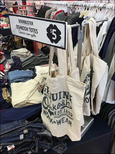 Branded Carryall Totes T-Stand At Osh Kosh