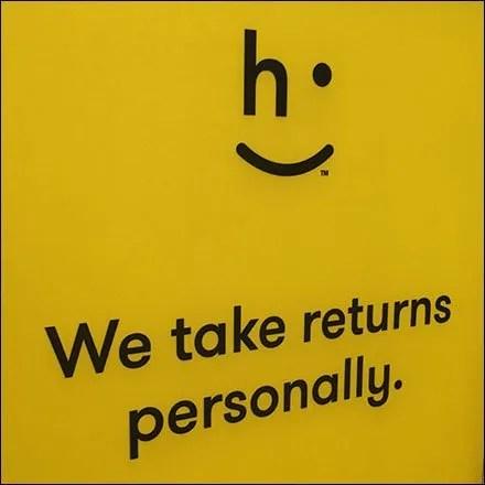Returns Taken Personally at Short Hills Mall