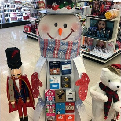 Snowman Display Gift Card Assortment