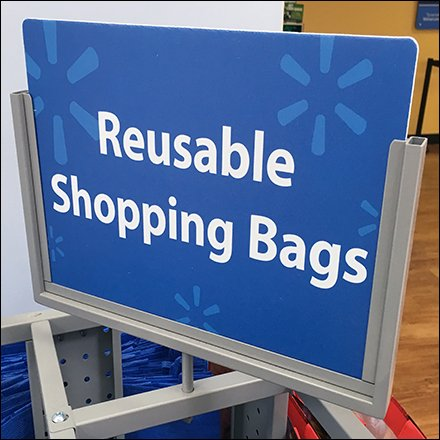 Shopping Bags and Dispensers - Perforated Metal Tower With Hooks For Shopping Bags