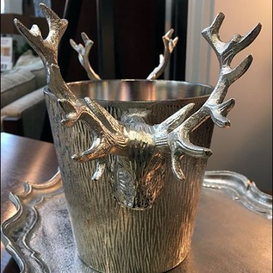 Stag Head Ice Bucket Prop As Drinking Buddy
