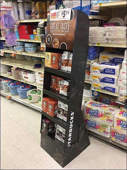 Starbucks Coffee Takeout Display In Grocery