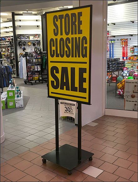 Store Closing Sale Floorstand Sign