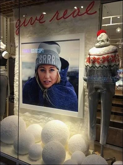 Styrofoam Snowball Window Dressing
