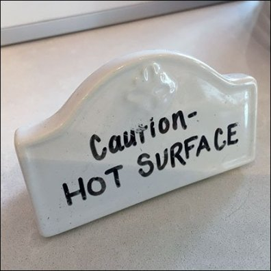 Sub-Zero Showroom Hot Surface Caution