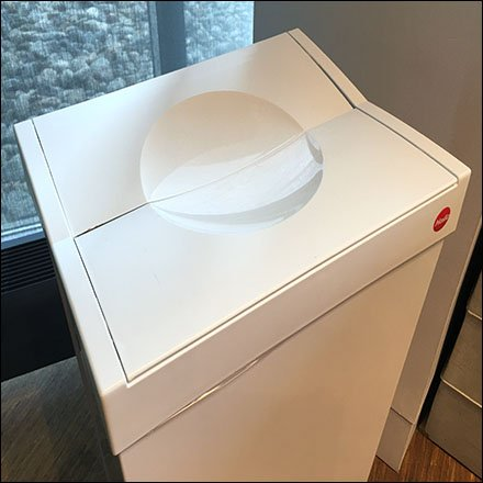 Sub-Zero Showroom Waste Receptacle Feature