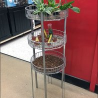 Circular Open Wire Tower For Aquarium Plants