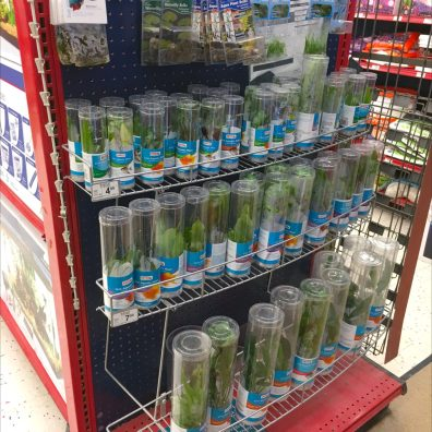 Curved Endcap Rack For Aquarium Plant Merchandising