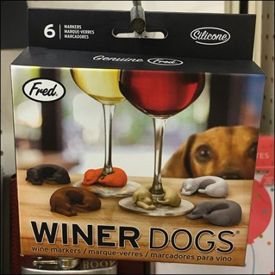 Winer Dogs For New Year's Eve Wine Lovers