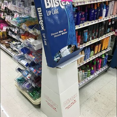 Discover Blistex Bliss Gravity-Feed Display