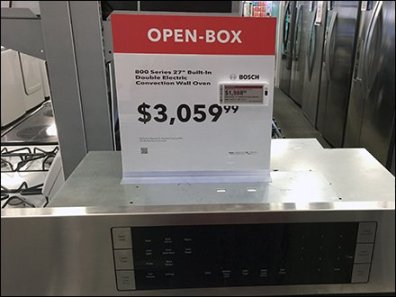 Bosch Open Box Discount Digital Price Ticket