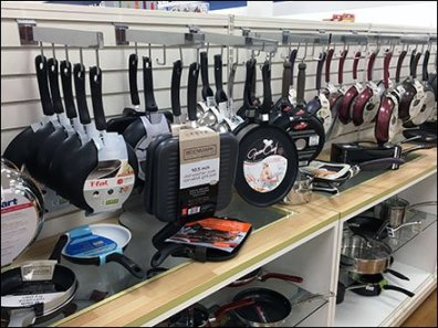 Slatwall J-Hook Faceouts For Cookware