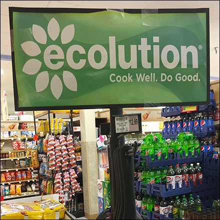 EcoLution Mobile Cookware Tower Display