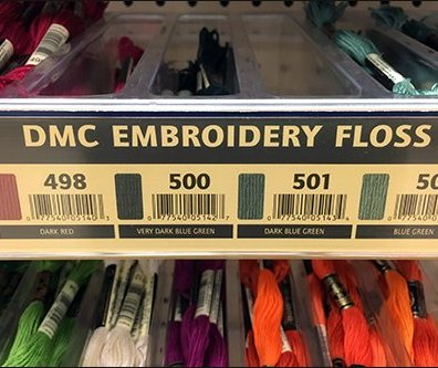 Embroidery Floss Tray Rack Labeling Solution