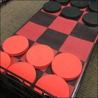 In-Store Giant Checkers Try-Me Display
