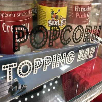 Gourmet Popcorn Topping Bar Feature