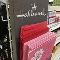 Hallmark Card Cardboard Strip Merchandiser