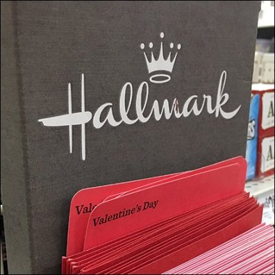 Hallmark Card Cardboard Strip Merchandiser