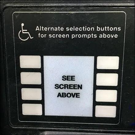 Alternate Handicapped Gas Pump Controls