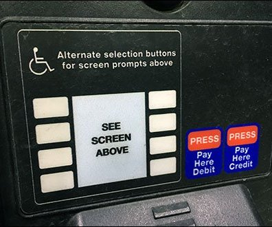 Alternate Handicapped Gas Pump Controls