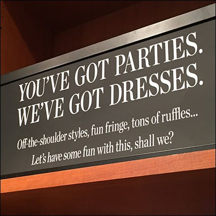 You've Got Parties, We've Got Dresses Sign