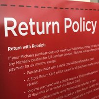 Return Policy Highlighted In Red