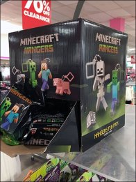 Minecraft Gravity Feed Cube Dispenses Hangers