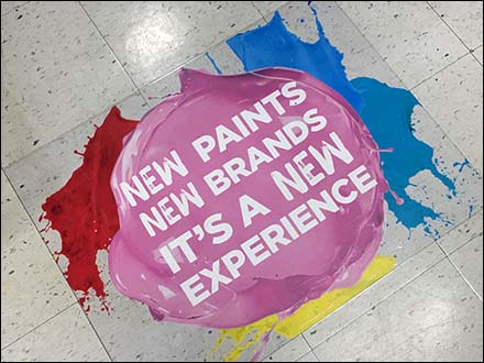New Paints, New Experience Floor Graphic