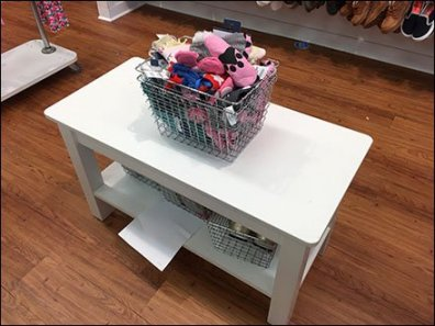 Wire Basket Shopping Carry Bulk Bin